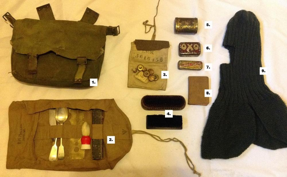 WW1 Haversack and Contents (1/2)