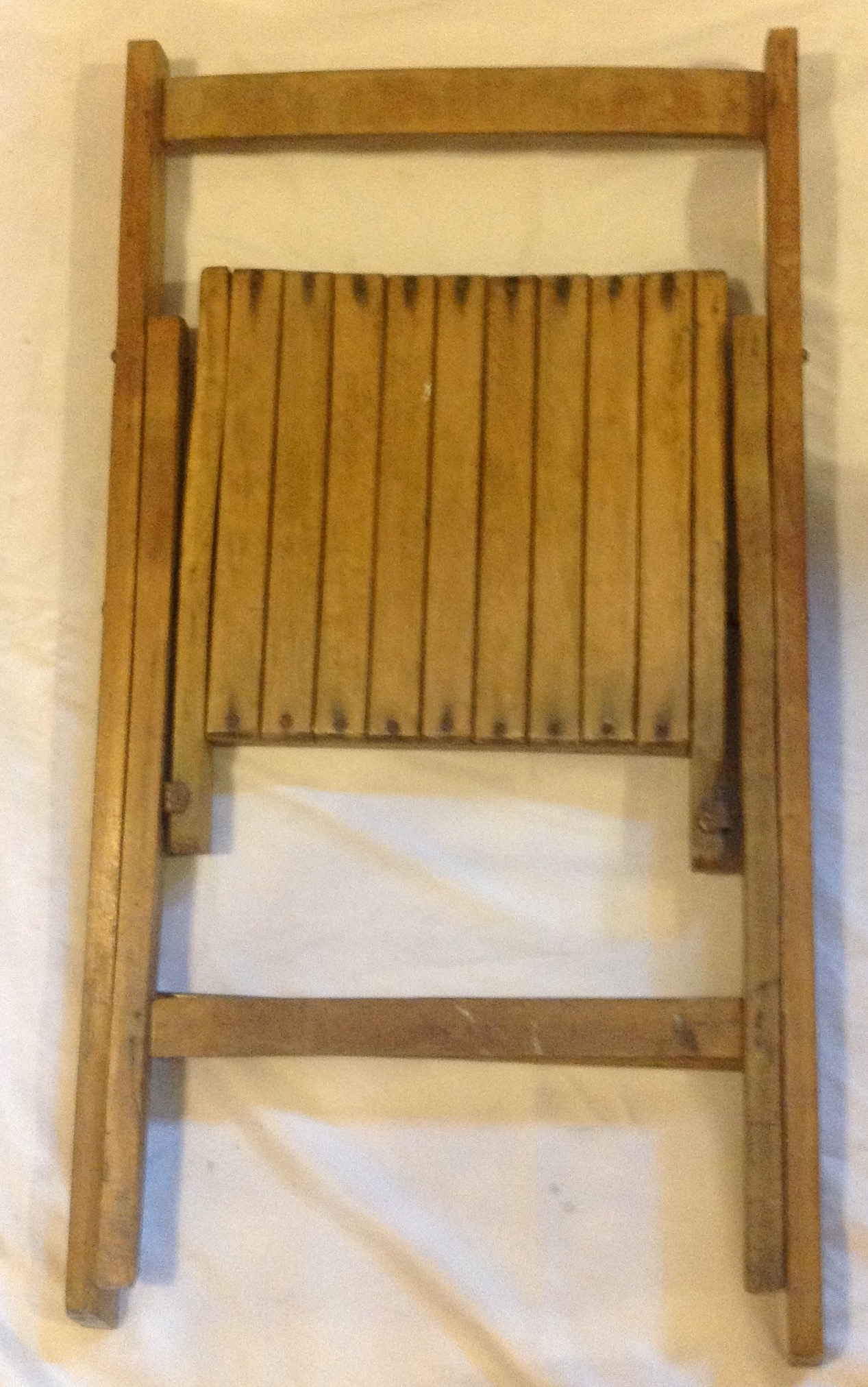 War Department Folding Wooden Chair