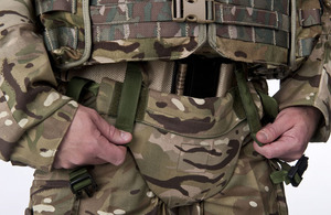 MOD INTRODUCES PELVIC PROTECTION FOR FRONTLINE TROOPS