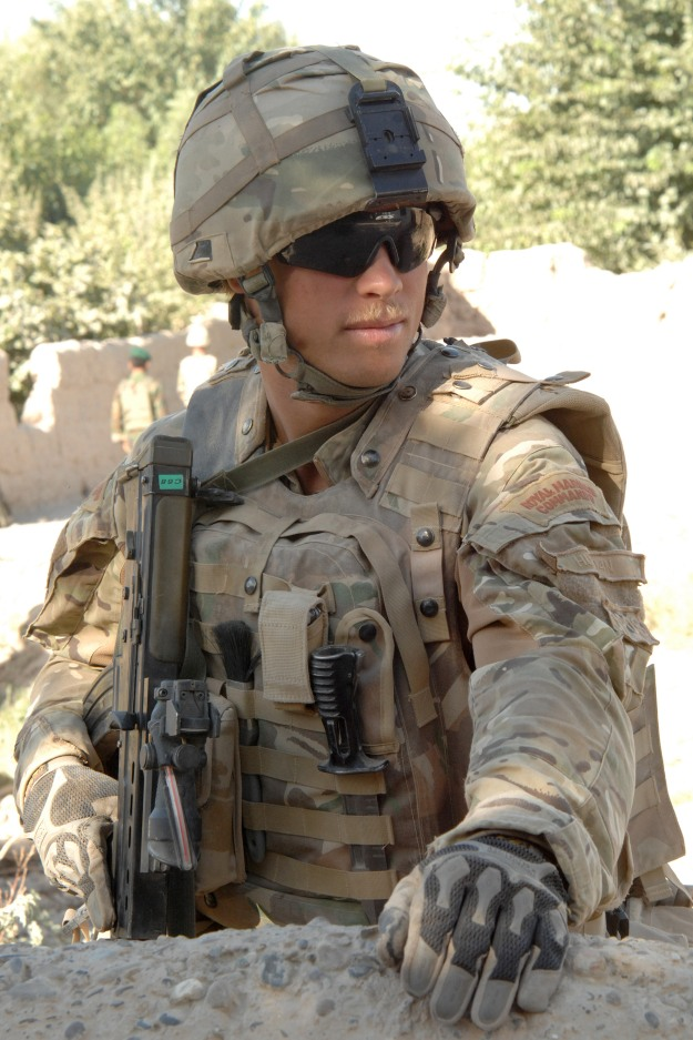 Royal Marine from 40 Cdo in Sangin, Afghanistan