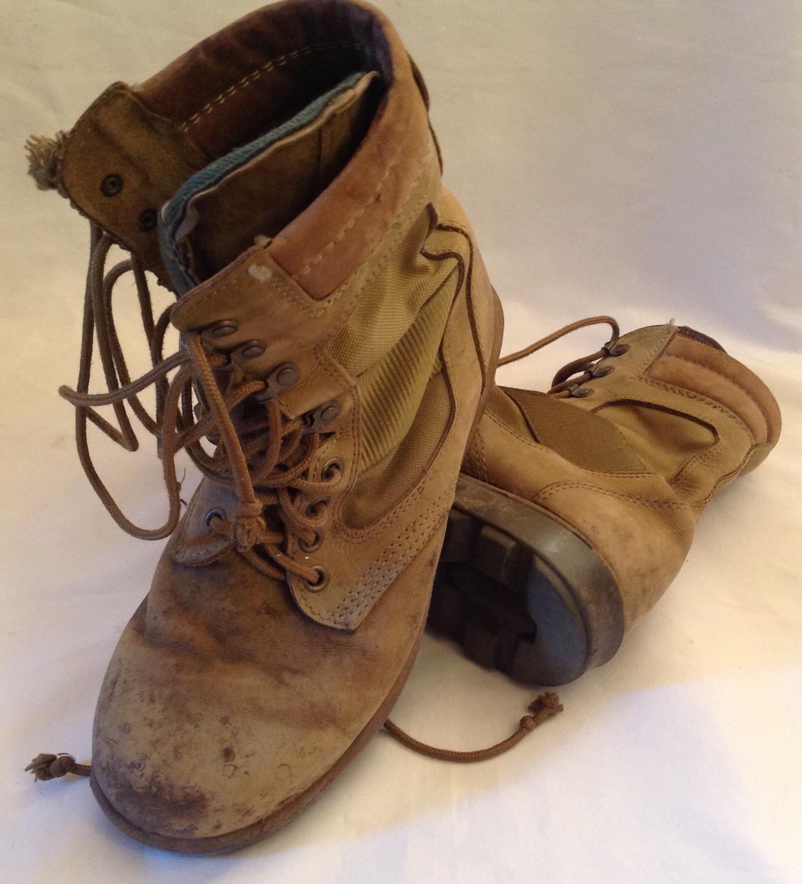 Australian Army Khaki General Purpose Leather Boots Australian Made